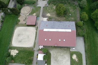 Luftaufnahme der Reithalle